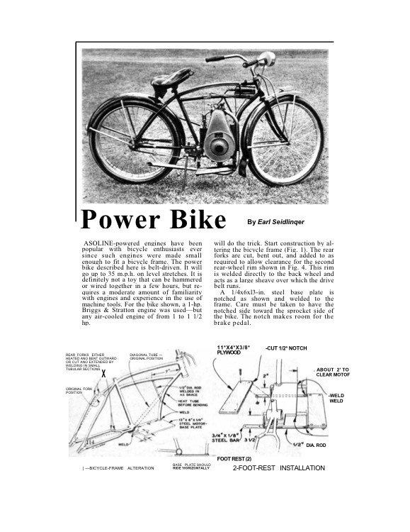 power-bike model airplane plan