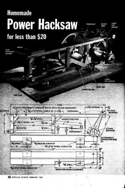 power-hacksaw model airplane plan
