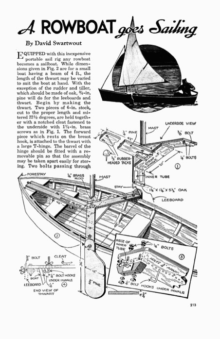 rowboat-sail-conversion model airplane plan