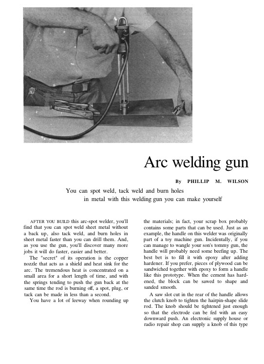 weldinggun model airplane plan