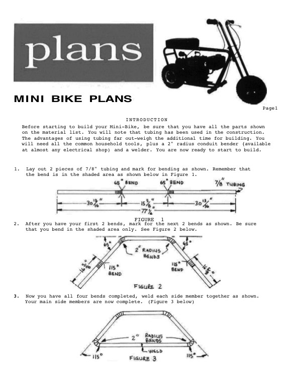 Wren Mini Bike Plans Plans Aerofred Download Free Model