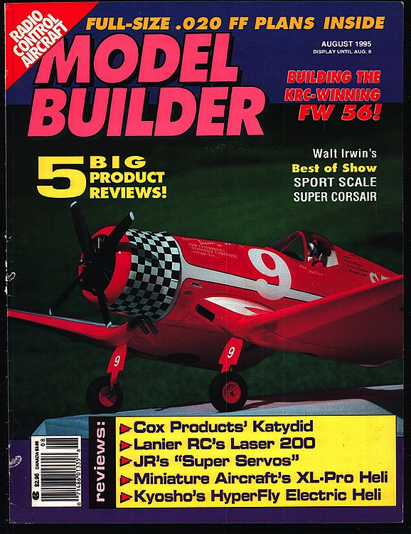 Model Builder 1995-08-AUG model airplane plan