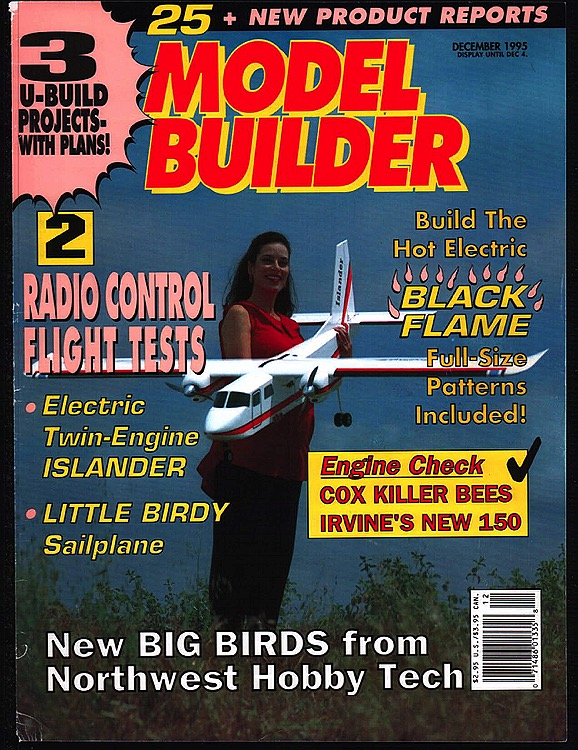 Model Builder 1995-12-DEC model airplane plan