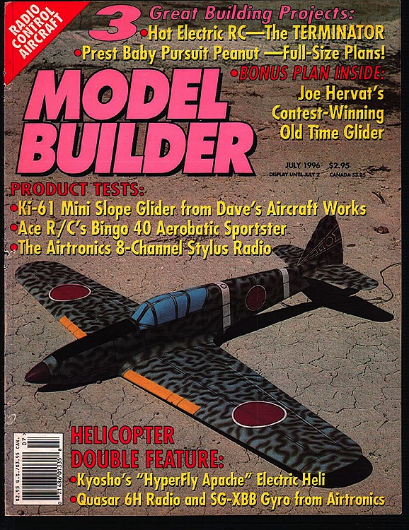 Model Builder 1996-07-JUL model airplane plan